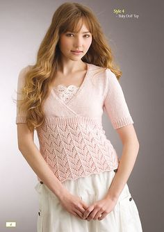 858a3f6cae1153 Ravelry   Baby Doll  Top ( 4) pattern by Patons Australia Knit