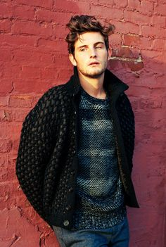 Stuck to the Knitting | Nico Tortorella - NYTimes.com. Love the colors and texture of the pullover.