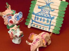 Students can research information about Beijing and the Forbidden City while creating these animal statues.