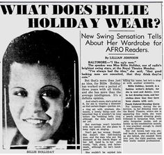 Billie Holiday early press releases