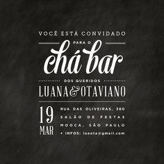 Convite Digital - Chá Bar Lu & Ota