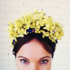 lublu yellow floral headpiece. i love. // kira plastinina