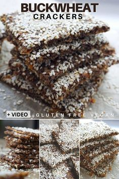Healthy Buckwheat Crackers – a simple gluten free vegan snack. Learn how to make crunchy, flavorful, homemade buckwheat crackers with whole buckwheat groats, sweet potatoes, flax seeds and sesame seeds. These baked vegan gluten free crackers are great to be enjoyed as snack on their own or with a warm bowl of soup. #buckwheat #veganglutenfree #crackers #healthycrackers #homemadecrackers