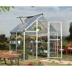 6' x 4' - Hybrid Merged Glazing Silver Palram Greenhouse