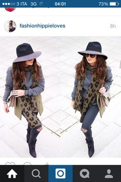 Total grey and animalier