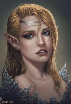 Fantasy Portraits, Character Portraits, Fantasy Artwork, Baldur's Gate Portraits, Fantasy Races, Fantasy Rpg, Medieval Fantasy, Elf Characters, Fantasy Characters
