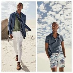 J.Crew ventures to the desert for its June 2016 mens style guide. We like these two looks. Bang on for the summer months ahead. by menstyled_
