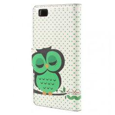 Huawei P8 Lite vihreä pöllö puhelinlompakko. #pöllö #huaweip8lite #vihreä