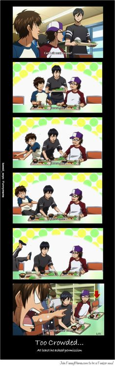 DAIYA NO ACE, taking seats I remember this. These children xD jealousy and pettiness yes.
