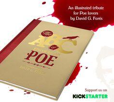 New project on Kickstarter: The ABC of Edgar Allan Poe. Check it!  #illustrated #book #EdgarAllanPoe #kickstarter