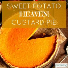 Recipe: Sweet Potato (Heaven) Custard Pie ***This sweet treat with a savory edge packs in carotenoids, fiber, folate and vitamin A. This healthy winter recipe will definitely impress your family and friends this over the holidays! Fall Recipes, Holiday Recipes, Snack Recipes, Dessert Recipes, Holiday Foods, Healthy Pregnancy Snacks, Pregnancy Cravings, Pregnancy Foods, Healthy Desserts
