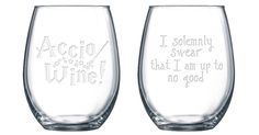 Gilmore Girls, Set of Stemless Wine Glasses Gilmore Girls Gifts, Etched Glassware, Godparent Gifts, Personalized Wine Glasses, Godmother Gifts, Wine Glass Set, Stemless Wine Glasses, Shot Glasses, Wine Gifts