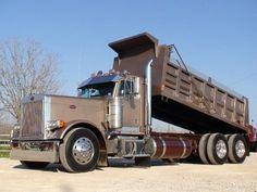 1995 Pete 379-127 Dump Truck Peterbilt Dump Trucks, Custom Peterbilt, Peterbilt 379, Small Trucks, Big Rig Trucks, Heavy Duty Trucks, Heavy Truck, Dump Trucks For Sale, Tandem