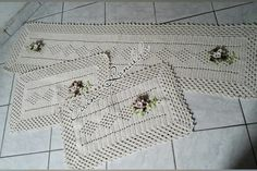 Crochet Carpet, Kitchen Playsets, Farmhouse Rugs, Colors, Craft, Home, Coasters