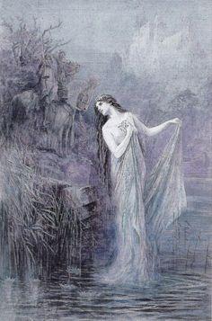 Merlin and Vivien/Nimue by Lancelot Speed