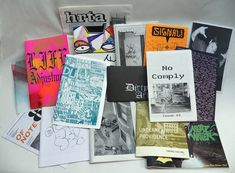"""Zines were important in the 90's and early 2000's because they were the link between picture trading and the internet. Picture trading was these big piles of loose images. Zines collected them into a hard copy bound format where they are all collected together. Later, that manifested as websites."" – Adam Void (aka AVOID pi)"