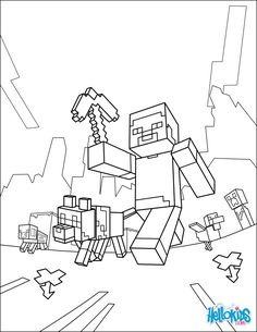 Free Coloringpages With Minecraft Finally Something For The Nerds To