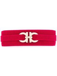 Salvatore Ferragamo logo ribbon hair clip - Red IYSYOb
