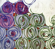 charles rennie mackintosh rose | Rose and Teardrop textile design by Charles ... | Artist: Mackintosh ...