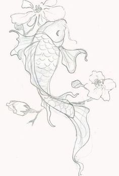 Japanese Dragon Koi Fish Tattoo Designs, Drawings and Outlines. The inspirational best red and blue koi tattoos for on your sleeve, arm or thigh. drawing 110 Best Japanese Koi Fish Tattoo Designs and Drawings - Piercings Models Japanese Koi Fish Tattoo, Koi Fish Drawing, Fish Drawings, Pencil Art Drawings, Drawing Sketches, Tattoo Drawings, Japanese Tattoos, Art Tattoos, Drawing Drawing