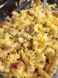 """Bacon Ranch Chicken Casserole. """"How do you like it?""""….. Silence. The only sound I was hearing was the kids and the hubby gobbling down dinner. That is a rare occasion. My almost 6 year old son ate two huge servings. Hubby ate 3. Those are definitely the signs of a winning recipe in my house! …"""