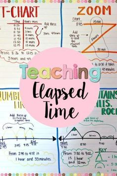 Help students understand elapsed time when teaching math with these four different strategies. Check out these tips and ideas while grabbing a FREEBIE! Math For Kids, Fun Math, Math Games, Maths, Math Activities, Math Math, Math Fractions, Math Strategies, Math Resources