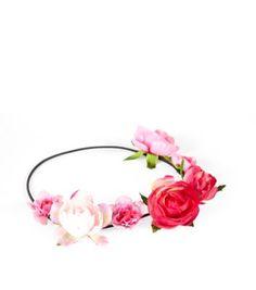 Festival wear - Pink Flower Garland Headband