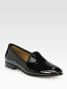I would consider flats if I had these...  Del Toro - Patent Leather Slipper
