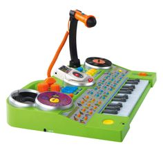 This VTech KidiJamz Studio features 10 instrument sounds and a microphone with digitial voice effects. Turtle Beach, Best Piano Keyboard, Dj Mp3, Voice Effects, Best Toddler Toys, Music Station, Musical Toys, Developmental Toys, Baby Toys