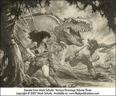 Mark Schultz: Various Drawings Volume 3 – Limited Edition | Sanguin Fine Art GIFTSHOP