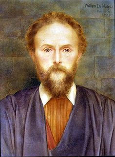 Portrait of William De Morgan  Artist: Evelyn De Morgan William De Morgan was of French Huguenot Descent