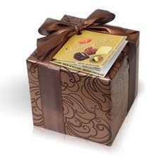 Bonboniéra v bronzovém papíru 150g Belgian Chocolate, Decorative Boxes, Bronze, Decorative Storage Boxes