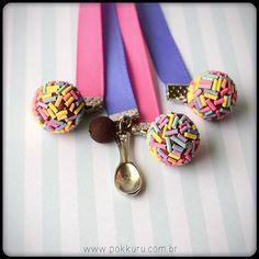 marcador de páginas brigadeiro de colher - colorido #book #bookmark #reading #girl #cute #sweet #pink #candy #chocolate