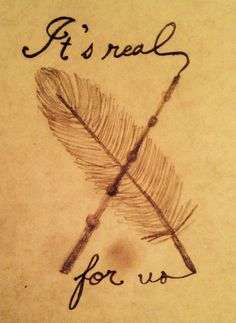 "Harry Potter ""it's real for us"" tattoo"
