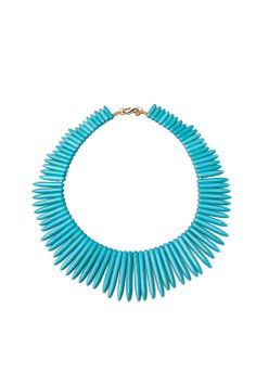 Kenneth Jay Lane Turquoise Spike Necklace from REVOLVEclothing