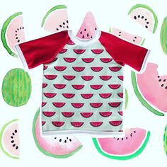 Watermelon Dribble Bib T-shirt - It's a shirt that doubles as a bib Dribble Bibs, Baby Wearing, Watermelon, Stylish, How To Wear, T Shirt, Collection, Supreme T Shirt, Bibs