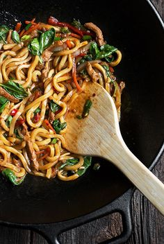 20 Minute Spicy Pork Udon Stir Fry