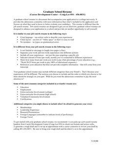 Resume education admission