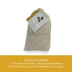 Scentphoria Potpourri Sachet in Egyptian Amber. Vegan, Cruelty Free, Sulfate Free and Paraben Free. Hand made in the USA.