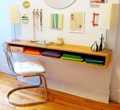 Space Saver: 22 Wall-mounted Desks To Buy Or Diy