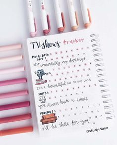Turn Up the Volume with 15 TV Show Trackers Bullet Journal Tv Series, Bullet Journal Yearly, Bullet Journal Writing, Bullet Journal School, Bullet Journal Tracker, Bullet Journal Aesthetic, Bullet Journal Ideas Pages, Bullet Journal Layout, Bullet Journal Inspiration