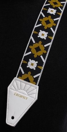 LENNON Rooftop WHITE Cotton TROPHY USA made Guitar Strap - Beatles Tribute