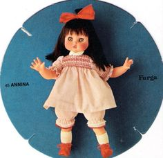 PAR AMOUR DES POUPEES :: ANNINA, 45CM, ANNEES 70, FURGA