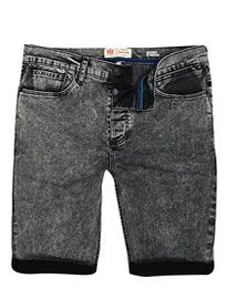 River Island Black Acid Wash Skinny Stretch Shorts