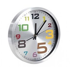 Colorful Numeral Design Alloy Wall Clock
