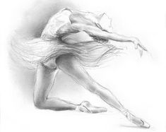 BALLERINA. Art Print of original graphite pencil by EwaGawlik
