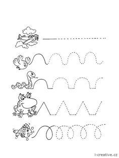 Grafomotorická cvičení k vytisknutí. Využijte také další grafomotorické listy a pracovní listy pro děti. … Color Flashcards, Tot School, Games For Kids, Montessori, Kindergarten, Kids Rugs, Creative, Kids Story Books, Stories For Kids