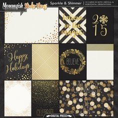 Sparkle & Shimmer | Pocket Cards by Mommyish and Studio Flergs at The Digital Press