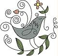 """This free embroidery design is called, """"Birdie Love"""".  Enjoy!"""