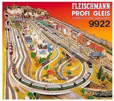 train accessory Track Plans ho (HO) ref 9922 Fleischmann Model Railway Track Plans, Electric Train Sets, Hobby Trains, Train Table, Model Train Layouts, Fun Hobbies, Model Building, Classic Toys, Trains